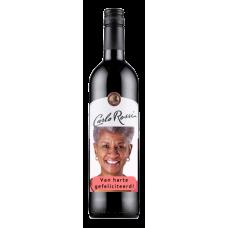 W04 Rode wijn met foto etiket