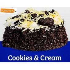 T08 Slagroomtaart Cookies en Cream (16cmx16cm)