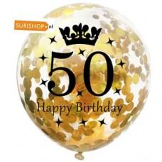 Confetti ballon 50 jaar