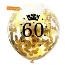 Confetti ballon 60 jaar