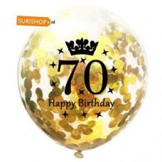 Confetti ballon 70 jaar