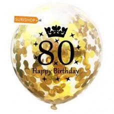 Confetti ballon 80 jaar