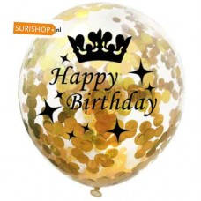 Confetti ballon Happy Birthday Gold