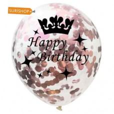Confetti ballon Happy Birthday Rose