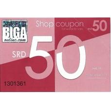 Biga Giftcoupon SRD 50, 4 maal