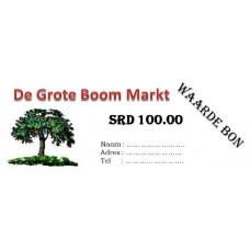 De Grote Boom waardebon SRD 100
